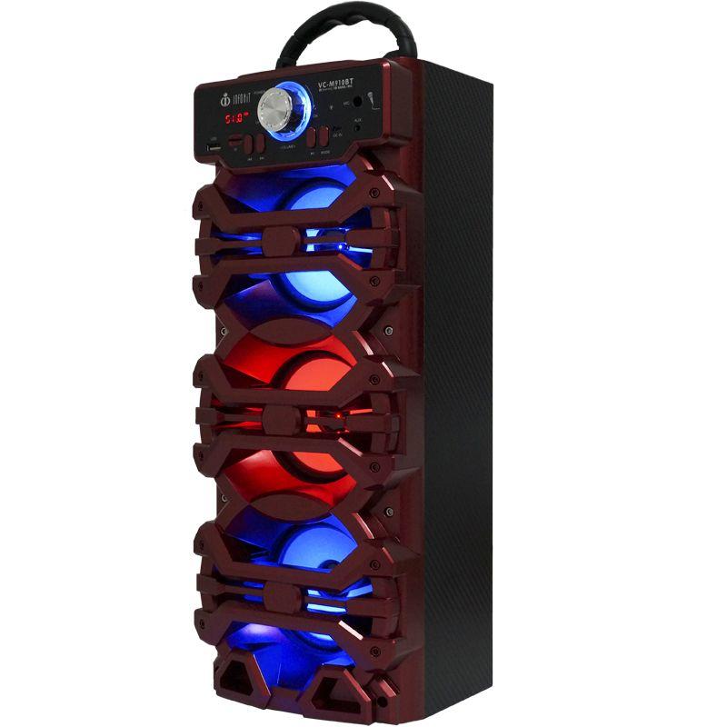 Caixa Som Portátil Bluetooth Mp3 Fm Usb Sd Microfone Bateria 18W Rms Infokit Vermelha VC-M910BT  - BEST SALE SHOP