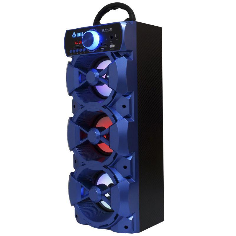 Caixa Som Portátil Bluetooth Mp3 Fm Usb Sd Microfone Bateria 18W Rms Infokit Azul VC-M912BT  - BEST SALE SHOP