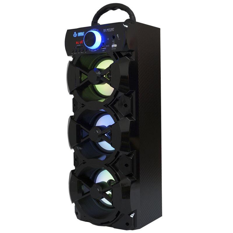 Caixa Som Portátil Bluetooth Mp3 Fm Usb Sd Microfone Bateria 18W Rms Infokit Preta VC-M912BT  - BEST SALE SHOP