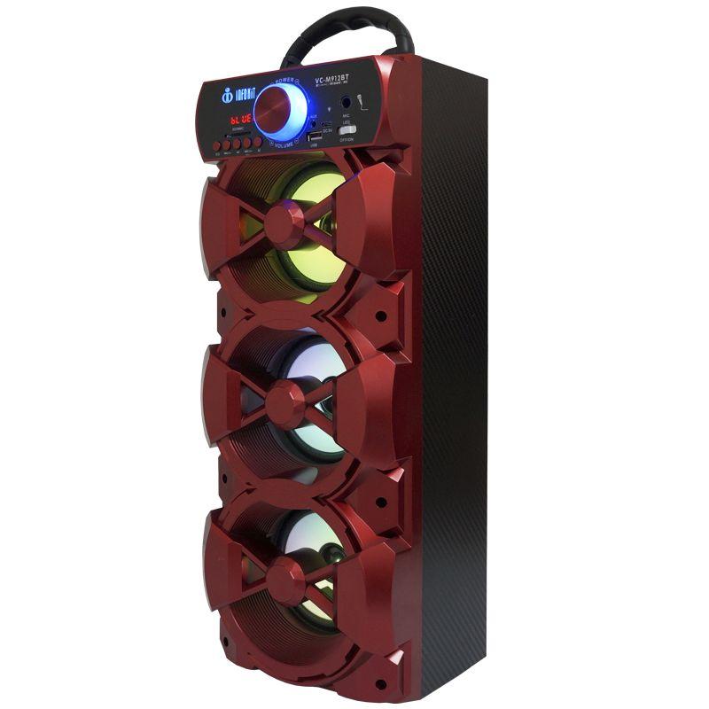 Caixa Som Portátil Bluetooth Mp3 Fm Usb Sd Microfone Bateria 18W Rms Infokit Vermelha VC-M912BT  - BEST SALE SHOP