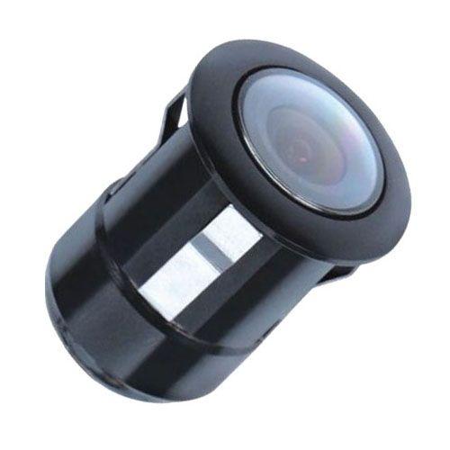 Câmera de Ré Automotiva Universal Colorida Parachoque Borboleta 2x1 Tay Tech Preta