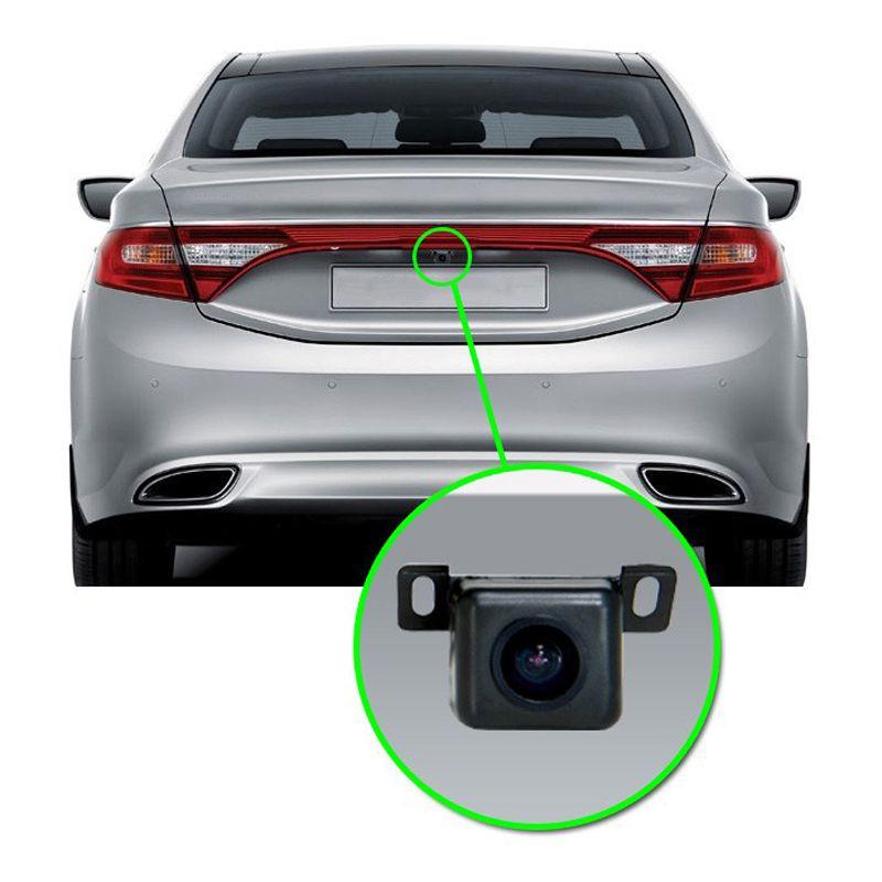 Câmera de Ré Automotiva Universal Estacionamento Visão Noturna Tech One Uno Preta