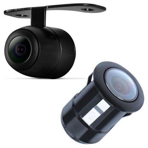 Câmera de Ré Parachoque Borboleta Tech One 2X1 Flex Preto