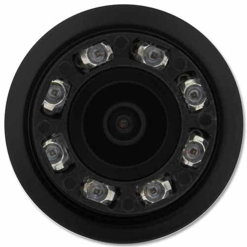 Câmera de Ré Parachoque Infravermelho Led Noturna 18,5mm Preto