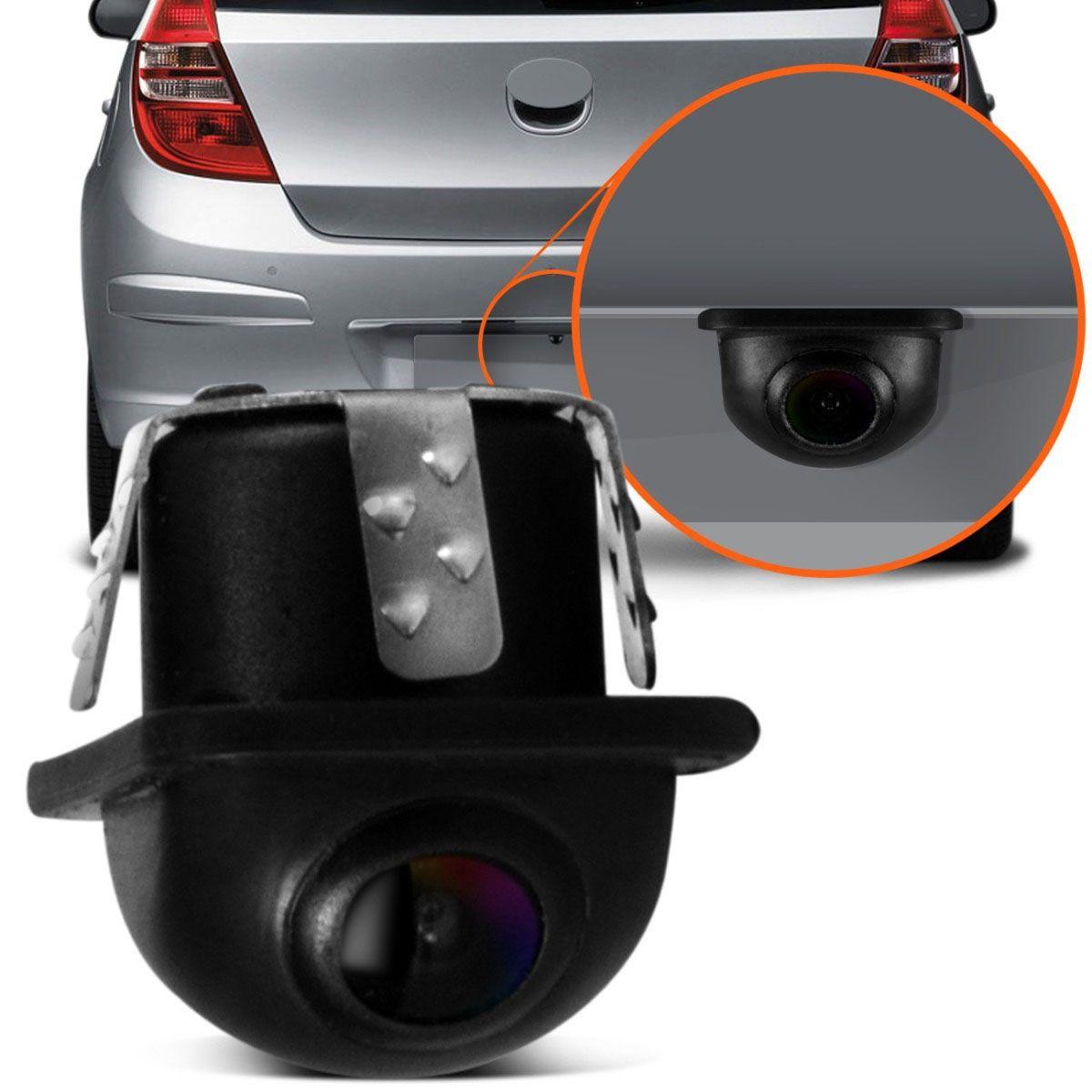 Câmera de Ré Tartaruga Automotiva Estacionamento Universal Colorida Tay Tech Preta