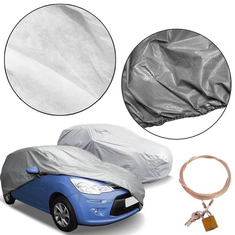 Capa Automotiva Cobrir Carro Protetora Forrada Total e Cadeado Tamanho M Carrhel  - BEST SALE SHOP
