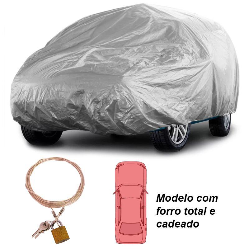 Capa Automotiva Cobrir Carro Protetora Forrada Total e Cadeado Tamanho P Carrhel  - BEST SALE SHOP