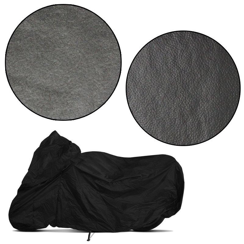 Capa de Couro Cobrir Moto Protetora Forrada Impermeável Anti Uv Tamanho P M G GG Carrhel Preta