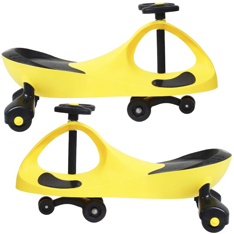 Carrinho Gira Gira Car Infantil Brinquedo Criança Importway Giro BW-004 Amarelo