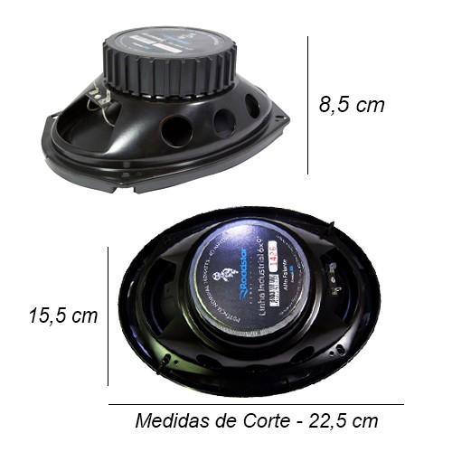 Cd Mp3 Player Automotivo Importway KV-9101 Usb Sd Aux + Par Alto Falante 6x9 200W Rms Quadriaxial  - BEST SALE SHOP