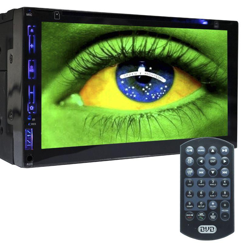 Central Multimídia Dvd Automotivo 2 Din 7.0 Exbom D760BT Wifi Android Espelhamento Bluetooth Gps