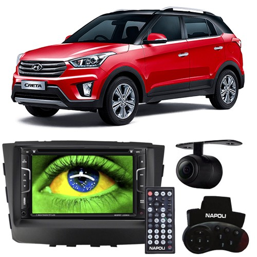Central Multimídia Dvd Hyundai Creta 2017 à 2018 Moldura Bluetooth Tv Câmera Ré Gps