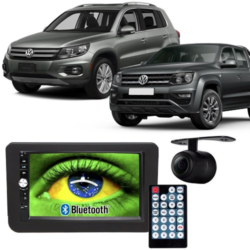 Central Multimídia Mp5 Amarok e Tiguan 09 à 17 D720BT Moldura 2 Din Preta Usb Bluetooth Câmera Ré  - BEST SALE SHOP