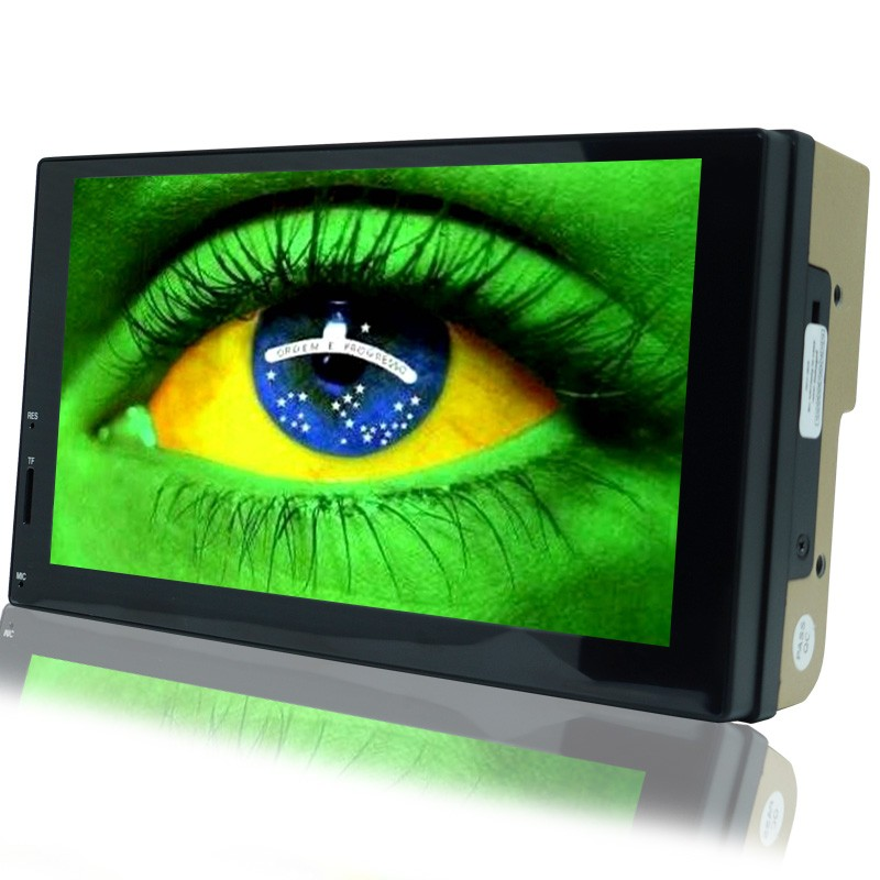 Central Multimídia Mp5 Automotivo Universal 2 Din 7.0 7703C Wifi Android Bluetooth Gps Usb Sd  - BEST SALE SHOP