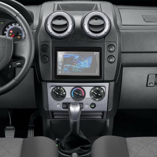 Central Multimídia Mp5 Ecosport 05 à 12 D720BT Moldura 2 Din Bluetooth Câmera Ré