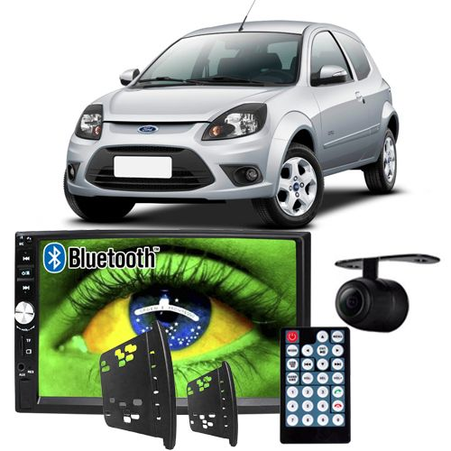 Central Multimídia Mp5 Ford Ka 2008 à 2012 D720BT Moldura Bluetooth Câmera Ré  - BEST SALE SHOP