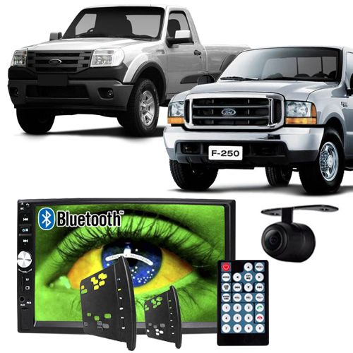 Central Multimídia Mp5 Ford Ranger F250 00/12 D720BT Moldura Bluetooth Câmera Ré  - BEST SALE SHOP