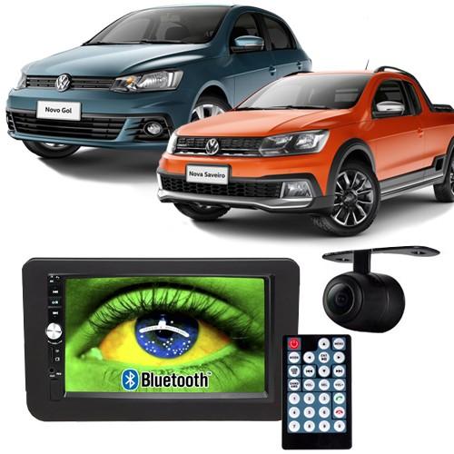 Central Multimídia Mp5 Gol Saveiro G7 D720BT Moldura 2 Din Preta Usb Bluetooth Câmera Ré  - BEST SALE SHOP