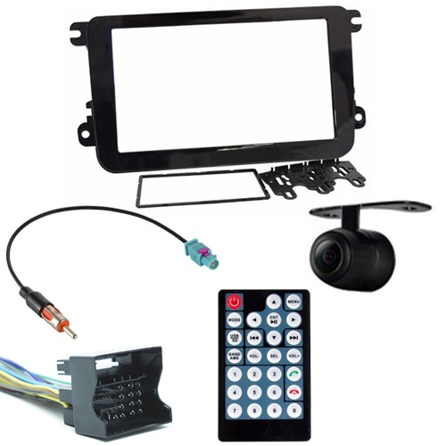 Central Multimídia Mp5 Gol Saveiro G7 D720BT Moldura 2 Din Preta Usb Bluetooth Câmera Ré