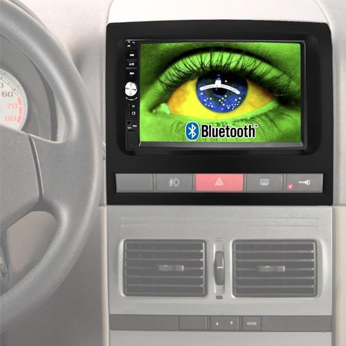 Central Multimídia Mp5 Idea 2006 à 2011 D720BT Moldura 2 Din Preta Usb Bluetooth Câmera Ré