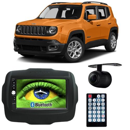 Central Multimídia Mp5 Jeep Renegade 2015 à 2017 D720BT Moldura 2 Din Preta Usb Bluetooth Câmera Ré  - BEST SALE SHOP