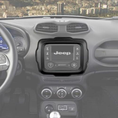 Central Multimídia Mp5 Jeep Renegade 2015 à 2017 D720BT Moldura 2 Din Preta Usb Bluetooth Câmera Ré