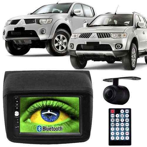 Central Multimídia Mp5 L200 Triton Pajero Dakar 09 à 16 D720BT Moldura 2 Din Usb Bluetooth Câmera Ré