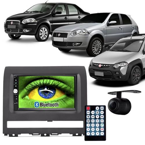Central Multimídia Mp5 Palio Strada Siena 05 à 11 D720BT Moldura 2 Din Cinza Usb Bluetooth Câmera Ré  - BEST SALE SHOP