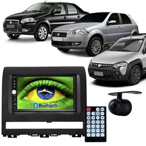 Central Multimídia Mp5 Palio Strada Siena 05 à 11 D720BT Moldura 2 Din Preta Usb Bluetooth Câmera Ré  - BEST SALE SHOP