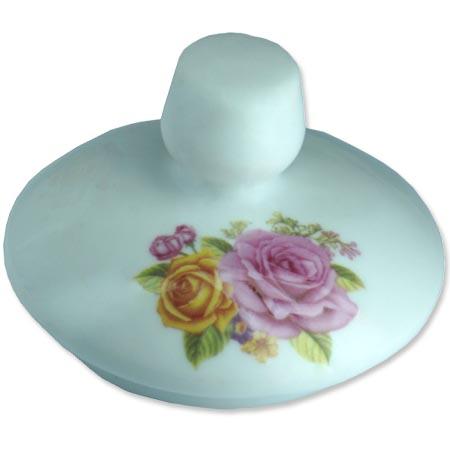 Chaleira de Porcelana Brilho de Diamante Bcyc-1607 Branco 650Ml  - BEST SALE SHOP