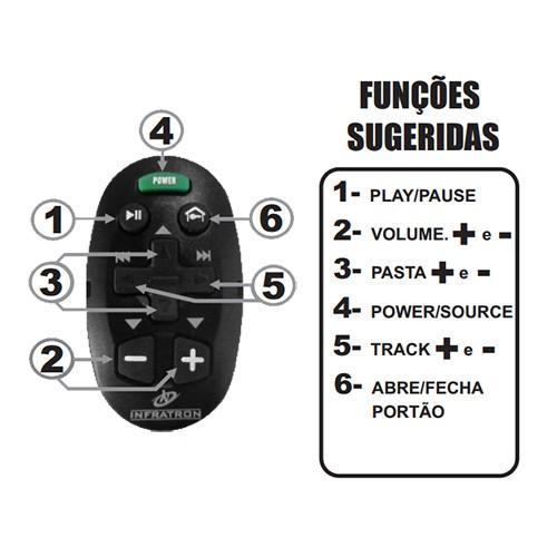 Controle Remoto de Longa Distância Som Automotivo Infratron Uno Branco  - BEST SALE SHOP