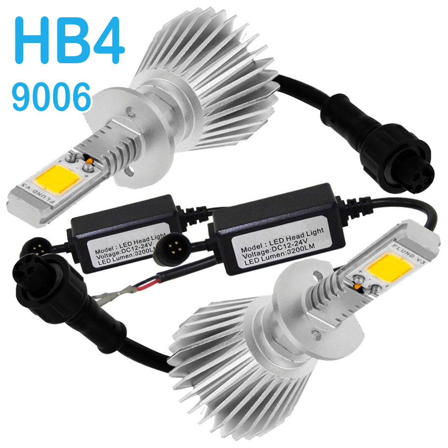 Par Lâmpada Super Led 6400 Lumens 12V 24V Hb4 6000K