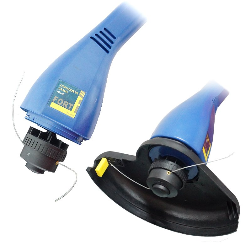 Cortador Aparador de Grama Mato Elétrico com Fio 220V Portátil Desmontável 300W Azul Fort FT-3100