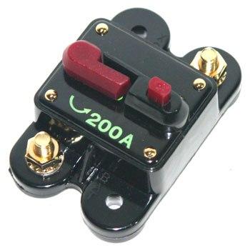 Disjuntor Automotivo 200A Proteção Som Bateria Resetável Liga Desliga