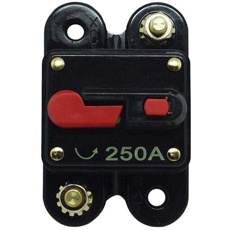 Disjuntor Automotivo 250A Tech One Proteção Som Bateria Resetável Liga Desliga