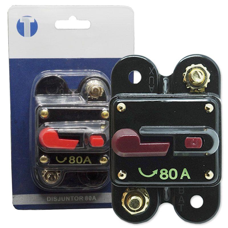 Disjuntor Automotivo 80A Tech One Proteção Resetável Liga Desliga  - BEST SALE SHOP