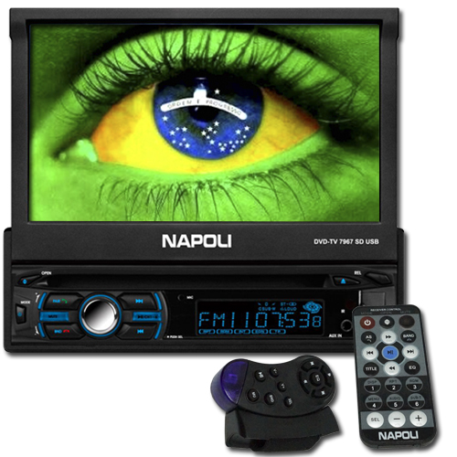 Dvd Automotivo 1 Din 7.0 Retrátil Napoli DVD-TV 7967 Sd Usb Bluetooth  - BEST SALE SHOP