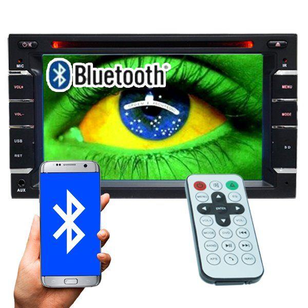 Dvd Automotivo 2 Din 6.2 M2M Car 2D-01 Sd Usb Bluetooth 7 Cores Iluminação Botões  - BEST SALE SHOP