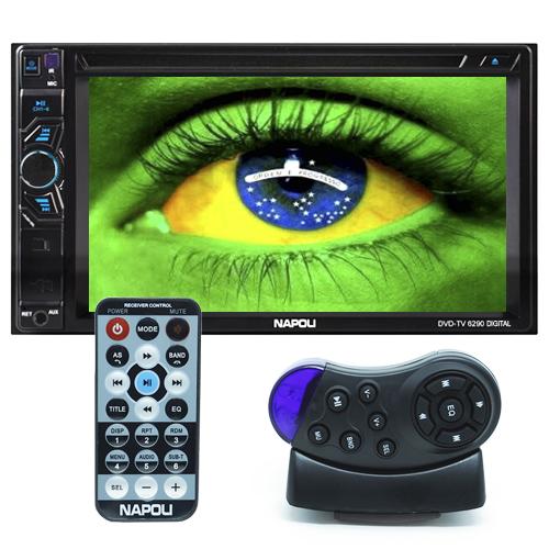 Dvd Automotivo 2 Din 6.2 Napoli DVD-TV 6290 Sd Usb Bluetooth Tv Digital