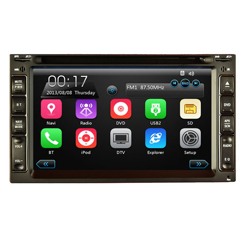 Central Multimídia Universal 2 Din 6.2 Tay Tech S95 Usb Bluetooth Tv Digital Gps