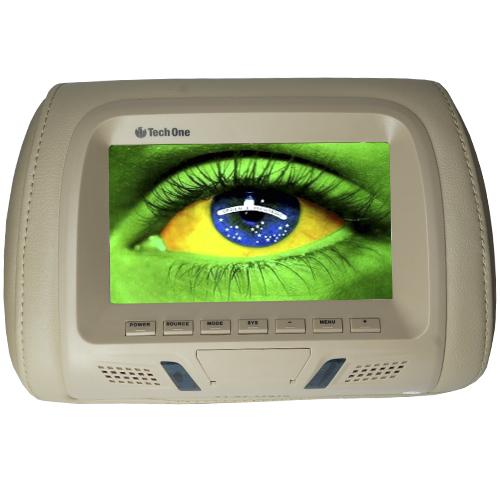 Encosto Cabeça Tela Monitor Usb SD IR Tech One Standard Bege  - BEST SALE SHOP