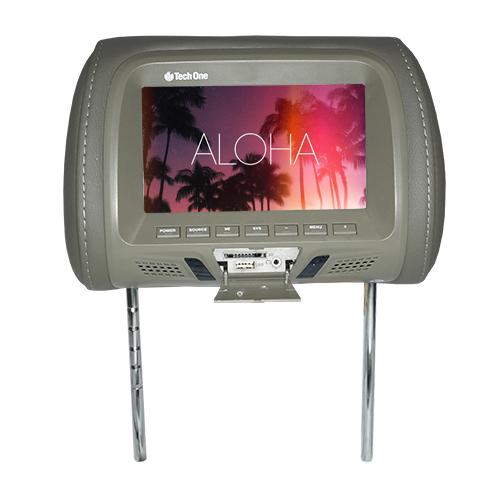 Encosto Cabeça Tela Monitor Usb SD IR Tech One Standard Cinza  - BEST SALE SHOP