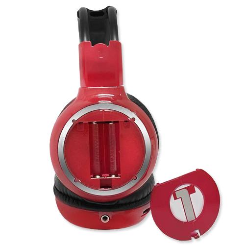 Fone De Ouvido Sem Fio Via IR Infravermelho Tech One T1DVHPSFCH Cherry Vermelho