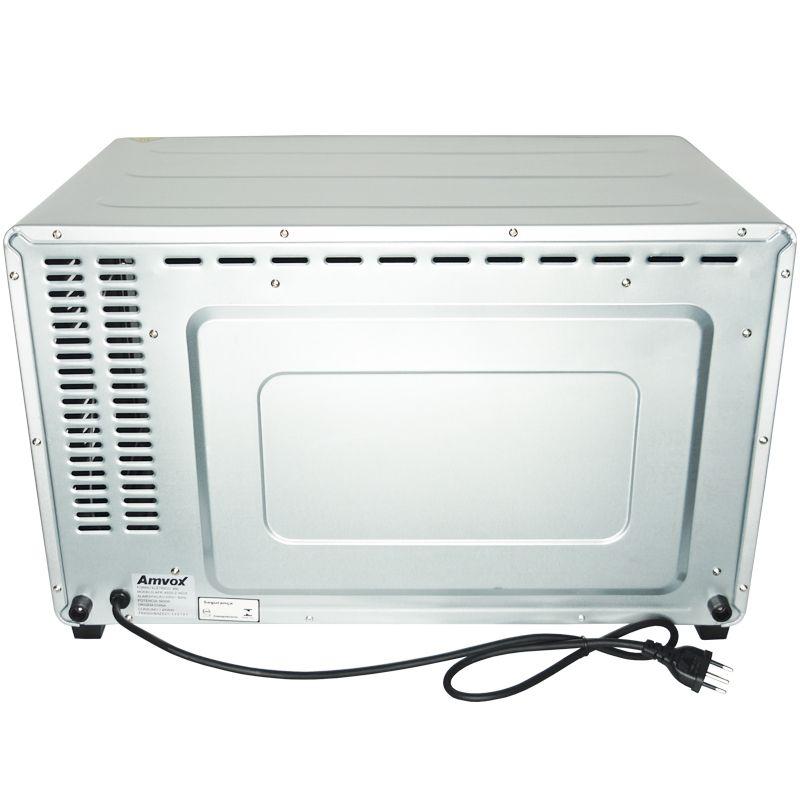 Forno Elétrico de Bancada 45 Litros 220V 1900W Multifunção Timer Alarme Amvox AFR 4500-2 Inox