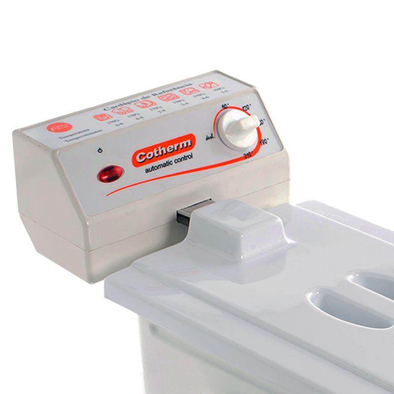 Fritadeira Elétrica com Óleo 2 Litros 1 Cuba 110V 127V Cotherm 2241 Frita Fácil 1200W Branca