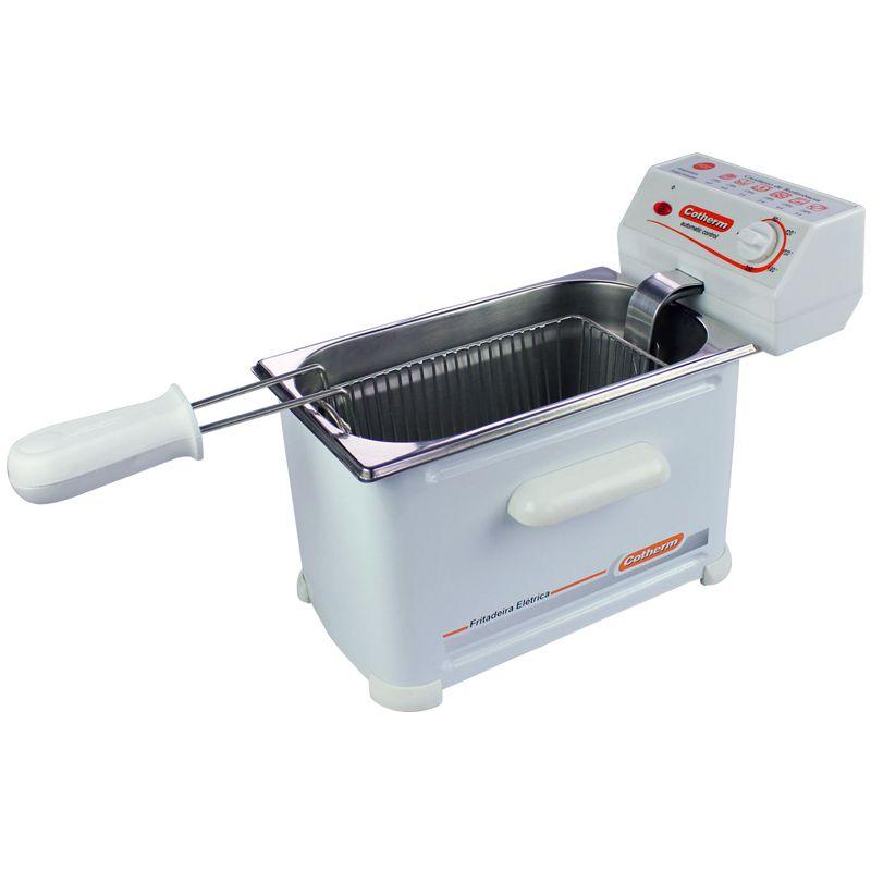 Fritadeira Elétrica com Óleo 2 Litros 1 Cuba 220V Cotherm 2242 Frita Fácil 1200W Branca
