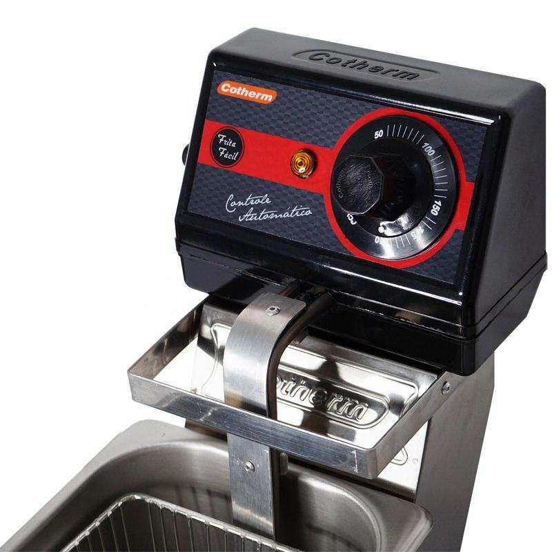 Fritadeira Elétrica com Óleo 3 Litros 1 Cuba Industrial Profissional Cotherm Frita Fácil Inox