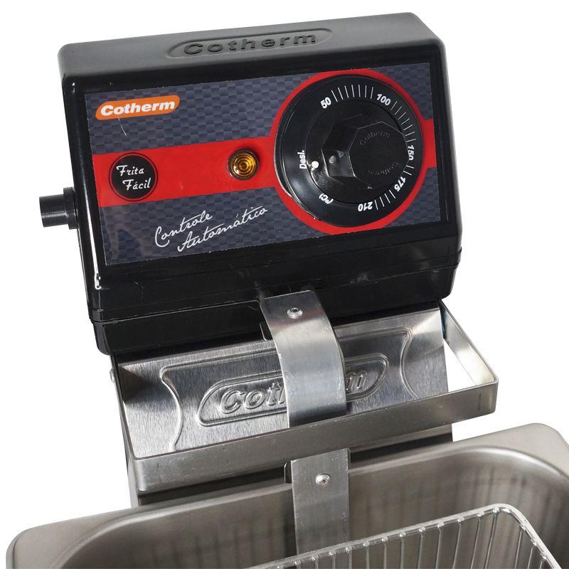 Fritadeira Elétrica com Óleo 5 Litros 1 Cuba Industrial Profissional Cotherm Frita Fácil Inox