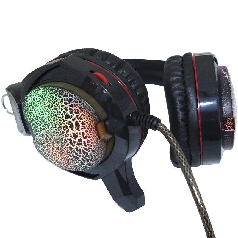 Headset Gamer Fone Ouvido com Microfone Usb P2 Led Pc Jogos Infokit GH-X10 XSoldado Preto Vermelho