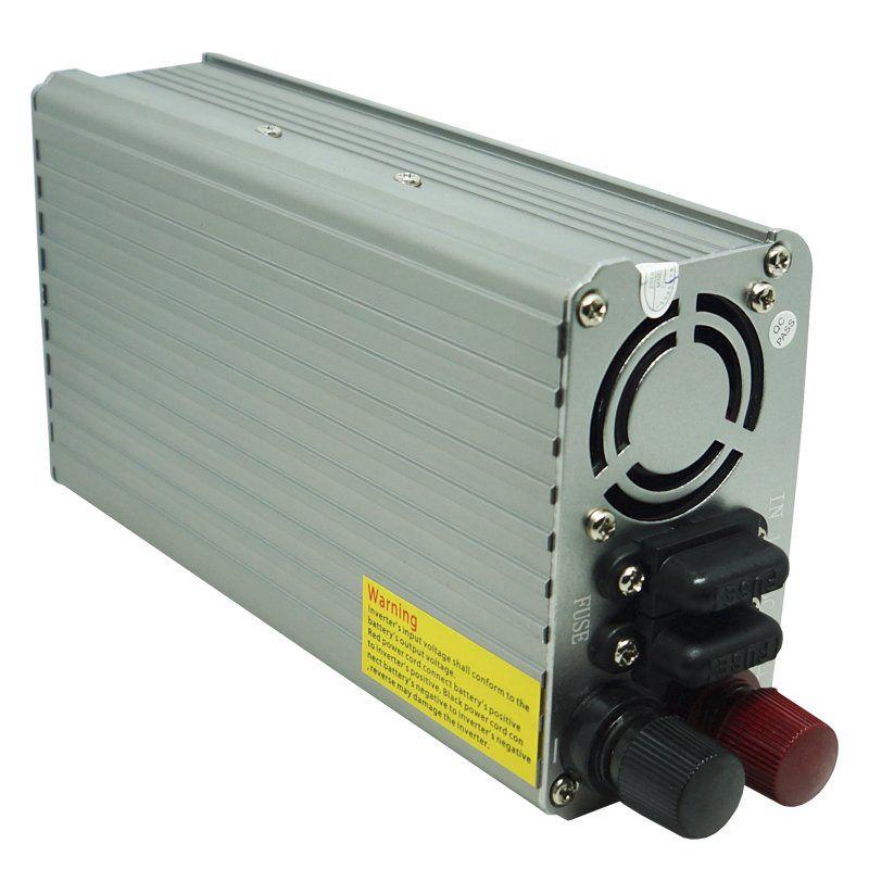 Inversor Conversor 12V para 110V Potência 1000W Veicular Transformador Tensão Leboss LB-521 Cinza